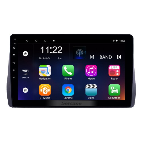 10.1 inch Android 10.0 GPS Navigation Radio for 2009-2012 Toyota Wish with HD Touchscreen Bluetooth USB support Carplay TPMS
