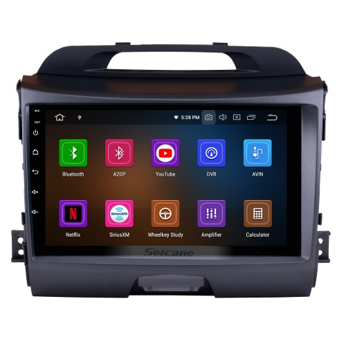 Android 10.0 9 inch HD 1024*600 Touch Screen Car Radio For 2010-2015 KIA Sportage GPS Navigation Bluetooth WIFI USB Mirror Link Support DVR OBD2 4G WiFi Steering Wheel Control Backup Camera