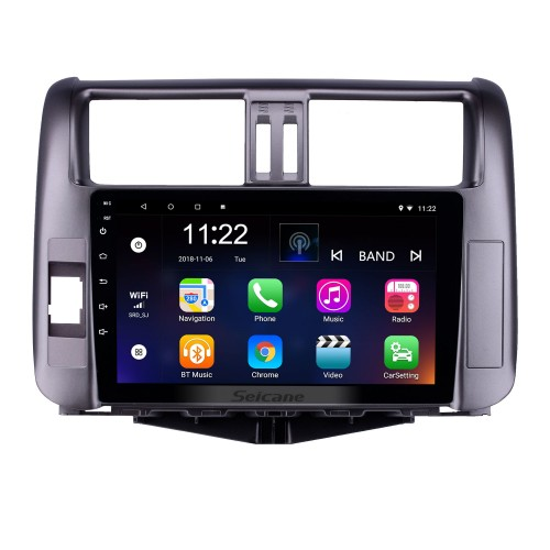 9 inch 2010-2013 Toyota Prado 150 Android 10.0 Radio GPS System with 1024*600 Touchscreen Bluetooth Music support OBD2 DVR Rearview camera TV 1080P 3G WIFI Steering Wheel Control