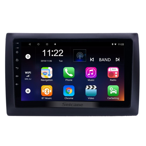2010 Fiat Stilo Android 10.0 HD Touchscreen 9 inch AUX Bluetooth WIFI USB GPS Navigation Radio support OBD2 SWC Carplay DVR