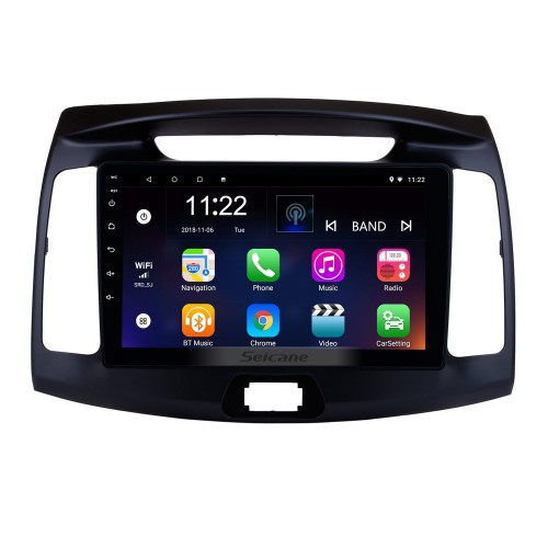 9 inch OEM Android 5.0.1 2011 2012 2013 Hyundai Elantra Radio GPS Navigation System with HD Touch Screen 4G WIFI Bluetooth OBD2 TPMS Backup Camera Steering Wheel Control Digital TV