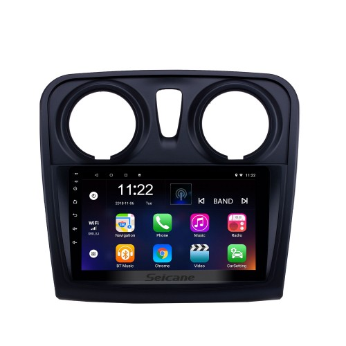 HD Touchscreen 9 inch Android 10.0 GPS Navigation Radio for 2012-2017 Renault Dacia Sandero with Bluetooth AUX support Carplay TPMS