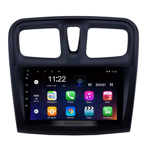 9 inch Android 10.0 GPS Navigation Radio for 2012-2017 Renault Sandero with Bluetooth USB HD Touchscreen support Carplay DVR OBD