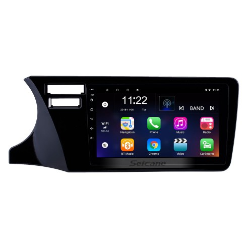 HD Touchscreen 9 inch Android 10.0 GPS Navigation Radio for 2014-2017 Honda City LHD with Bluetooth AUX Music support Carplay Steering Wheel Control