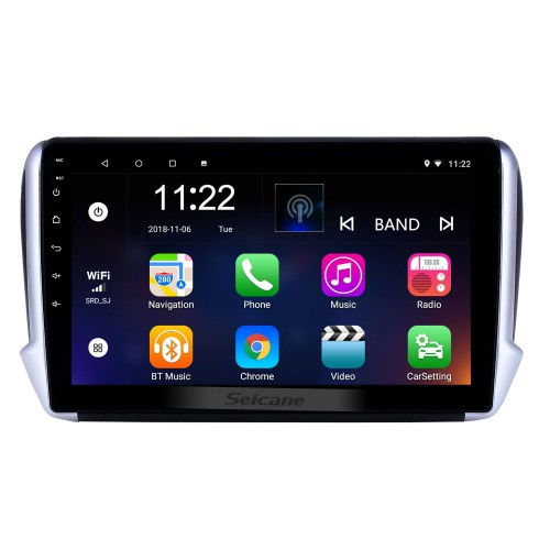 10.1 inch Android 10.0 GPS Navigation Radio for 2014-2016 Peugeot 2008 with HD Touchscreen Bluetooth USB WIFI AUX support Carplay SWC TPMS