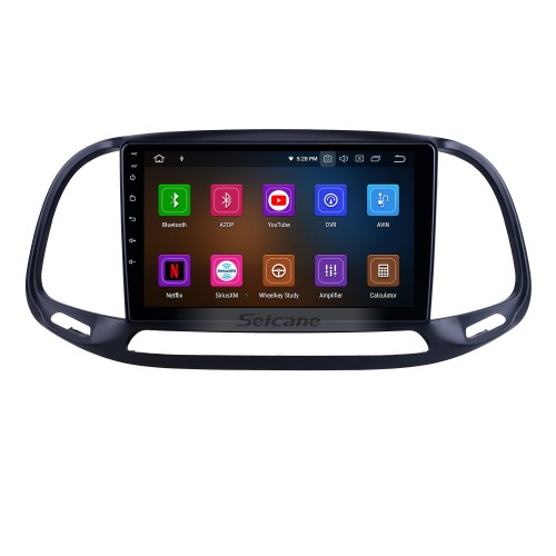 HD Touchscreen 9 inch for 2015 2016 2017 2018 2019 Fiat Doblo Radio Android 10.0 GPS Navigation System Bluetooth WIFI Carplay support DSP