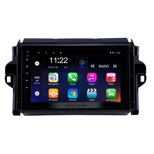9 inch Android 10.0 HD Touch Screen Radio GPS Navigation For 2015-2018 TOYOTA FORTUNER/ COVERT Bluetooth Digital TV 3G Wifi DVR OBD II Rearview Camera