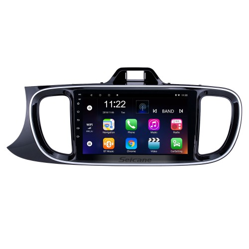 All in one 9 inch Android 10.0 HD Touchscreen Radio for 2017 KIA PEGAS Left Hand Driving Car GPS Navigation USB AUX RDS WIFI Bluetooth support DVR Digital TV Rearview Camera SWC
