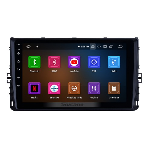 OEM 9 inch HD Touchscreen GPS navigation system Android 10.0 for 2018 VW Volkswagen Universal Support 3G/4G WiFi Radio Bluetooth Vedio Carplay Steering Remote Control