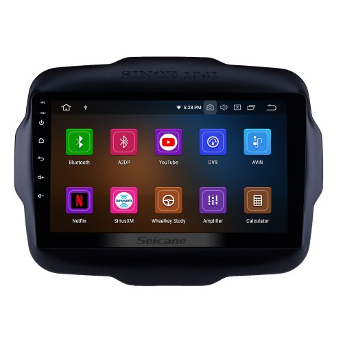 9 inch 2016 Jeep RENEGADE High Version with Capacitive Touch Screen Android 4.4 Radio GPS Navigation System 3G WIFI Bluetooth Mirror Link Steering Wheel Control Tpms DVR AUX OBD2 Rear Camera