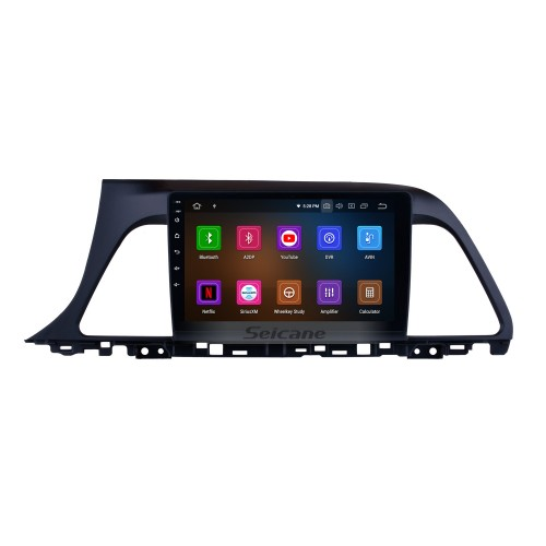 All in one 9 Inch Aftermarket GPS Navigation Head unit For 2015 2016 2017 Hyundai Sonata 9 Android 10.0 Radio HD Touch Screen Steering Wheel Control TV tuner Bluetooth Music DVD Player Backup Camera 4G WiFi