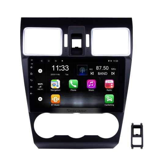 9 Inch OEM Android 10.0 Radio Touch Screen Bluetooth GPS Navigation system For 2015 2016 2017 Subaru Forester Support 3G WiFi TPMS DVR OBD II Rear camera USB SD