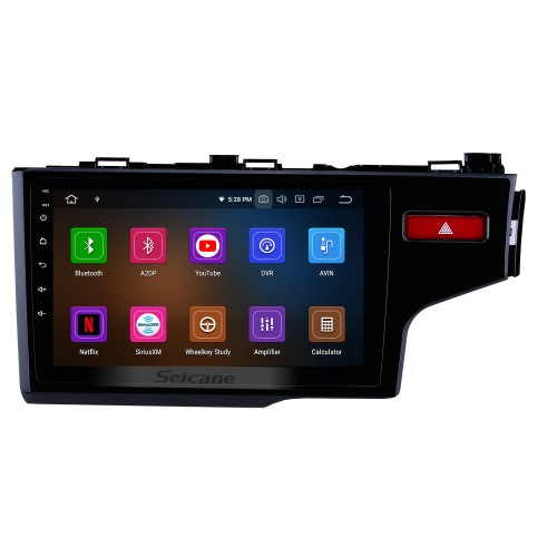 Aftermarket HD Touch Screen 2014 2015 2016 HONDA FIT RHD Android 10.0 Radio Replacement with GPS DVD Player 3G WiFi Bluetooth Music Mirror Link OBD2 Backup Camera DVR AUX USB SD 1080P Video