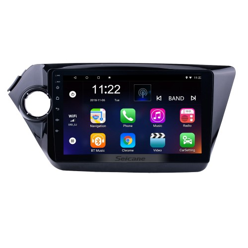 9 inch HD Android 10.0 2011-2015 Kia K2 RIO Radio Removal with Multi-touch Capacitive Screen GPS DVD Player Bluetooth 3G WiFi AUX Auto A/V HD 1080P Video Backup Camera