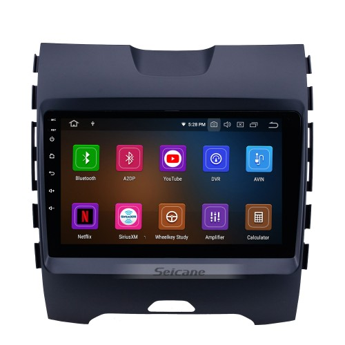 Android 10.0 HD Touchscreen 9 inch Radio for 2013-2017 FORD EDGE Bluetooth GPS Navi USB Carplay Support DVR Digital TV TPMS OBD 4G WIFI DVD Player SWC RDS