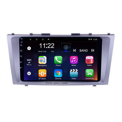 9 inch 1024*600 touchscreen 2007 2008 2009 2010 2011 TOYOTA CAMRY Radio Replacement with Android 10.0 Aftermarket GPS Car Stereo with Bluetooth Music WiFi 3G Mirror Link OBD2 DVR HD 1080P Video USB SD