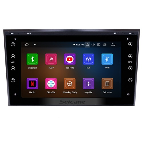In dash Radio GPS Navigation Stereo Upgrade for 2006 2007 2008-2011 Opel Corsa Android 10.0 Bluetooth WIFI USB  RDS Audio system Support OBD2 1080P DVR Auto A/V