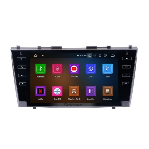for 2007 2008 2009 2010 2011Toyota Camry 9 inch Android 10.0 Radio HD Touchscreen Car Stereo Head Unit GPS Navigation Bluetooth WIFI Support Backup Camera Steering Wheel Control USB DVR TPMS