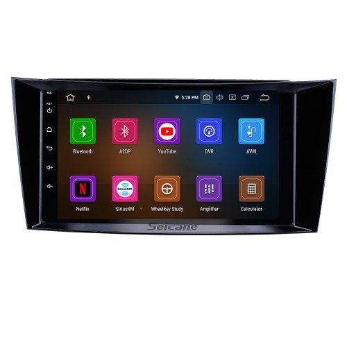 8 inch Android 10.0 GPS Navigation Radio for 2001-2010 Mercedes Benz E-Class W211 CLS W219 CLK W209G W463 with HD Touchscreen Carplay Bluetooth support OBD2 SWC