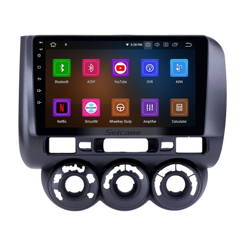 OEM 9 inch Android 10.0 Radio for 2002-2008 Honda Jazz Manual AC Bluetooth HD Touchscreen GPS Navigation Carplay support Rearview camera