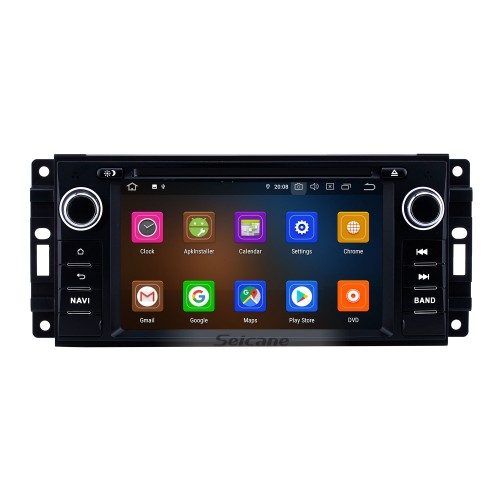6.2 inch 2005-2011 Jeep Grand Cherokee/Wrangler/Compass/Commander Android 10.0 GPS Navigation Radio Bluetooth Touchscreen Carplay support 1080P Video
