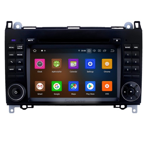 Seicane S127682 2 Din 2006-2012 Mercedes Benz Viano Vito Pure Android 4.4.4 Touch Screen DVD Radio Car Navigation System with 3G WiFi Mirror Link OBD2 Bluetooth Steering Wheel Control 16G Flash Quad-core CPU