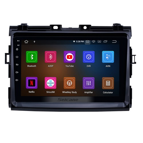HD Touchscreen 2006-2012 Toyota Previa Android 10.0 9 inch GPS Navigation Radio Bluetooth USB Carplay WIFI Music AUX support TPMS SWC OBD2 Digital TV