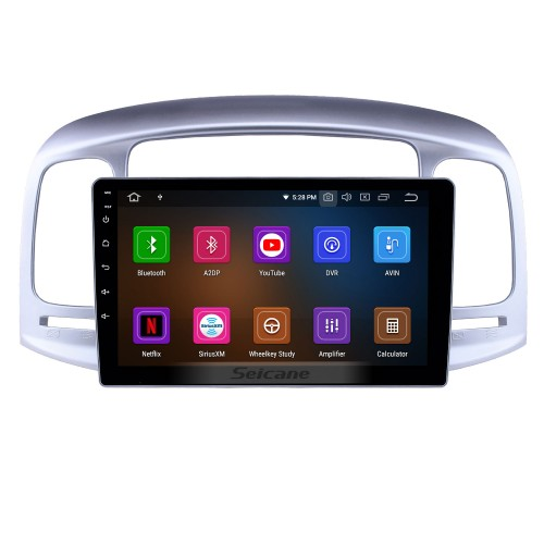 Aftermarket GPS Navigation Radio for 2006-2011 Hyundai Accent Android 10.0 9 inch Head Unit Audio with Carplay Bluetooth WIFI AUX support SWC TPMS