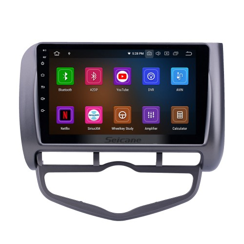 9 inch Android 10.0 GPS Navigation Radio for 2006 Honda Jazz City Auto AC LHD with HD Touchscreen Carplay AUX Bluetooth support 1080P