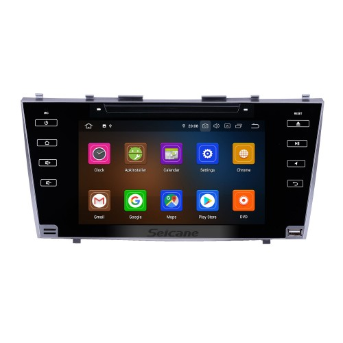 8 inch Android 10.0 Radio for 2007-2011 Toyota Camry Bluetooth HD Touchscreen WIFI GPS Navigation Carplay USB support TPMS DVR