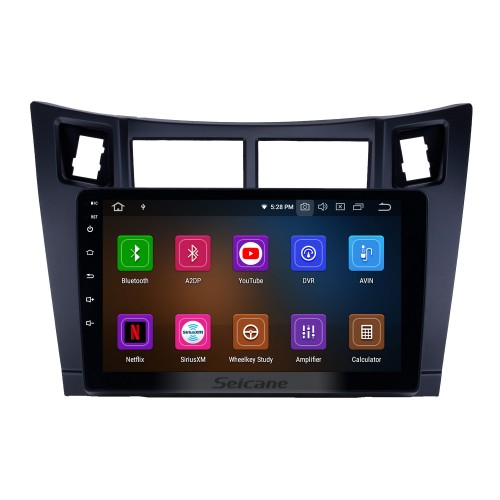 Android 10.0 9 inch GPS Navigation Radio for 2005-2011 Toyota Yaris/Vitz/Platz with HD Touchscreen Carplay Bluetooth WIFI AUX support Mirror Link OBD2 SWC