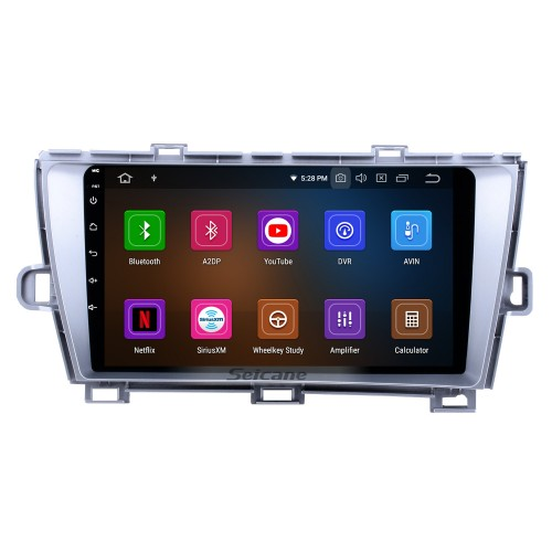 HD Touchscreen 2009-2013 Toyota Prius LHD Android 10.0 9 inch GPS Navigation Radio Bluetooth WIFI USB Carplay support TPMS DVR OBD2