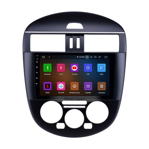 OEM 9 inch Android 10.0 Radio for 2011-2014 Nissan Tiida Manual A/C Low Version Bluetooth HD Touchscreen GPS Navigation Carplay support Rearview camera