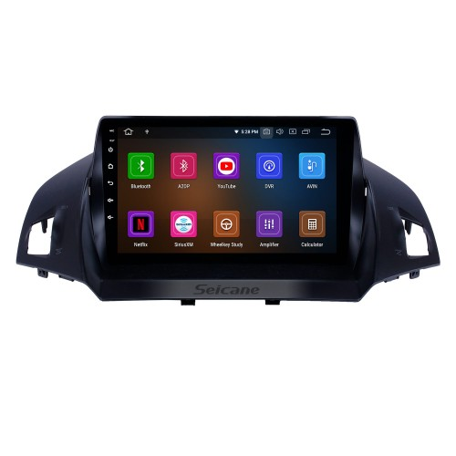Android 10.0 9 inch GPS Navigation Radio for 2013-2016 Ford Escape with HD Touchscreen Carplay Bluetooth WIFI USB AUX support Mirror Link OBD2 SWC