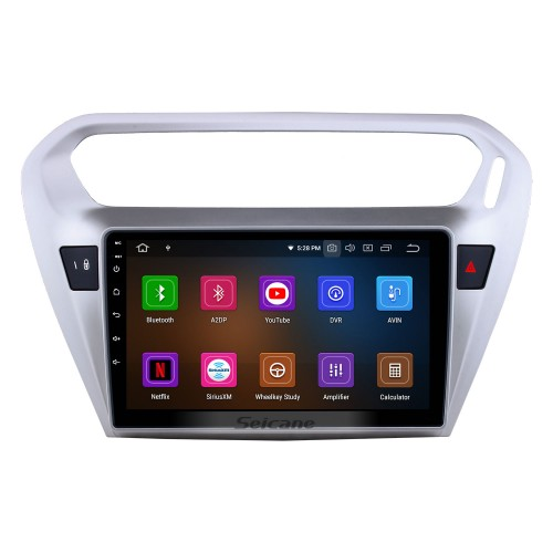 Android 10.0 9 inch GPS Navigation Radio for 2013 2014 Peugeot 301 Citroen Elysee Citroen C-Elysee Head Unit Stereo with Carplay Bluetooth USB AUX support DVR TPMS