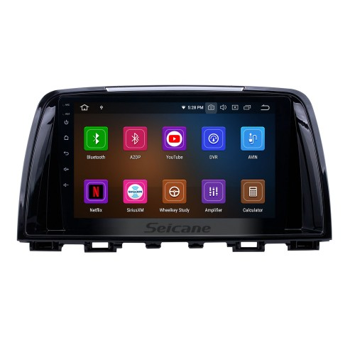 9 inch Android 10.0 GPS Navigation Radio for 2014-2016 Mazda Atenza with HD Touchscreen Carplay AUX Bluetooth support 1080P