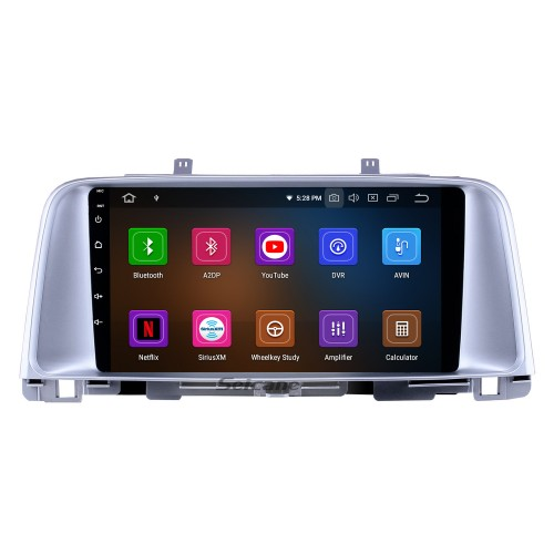 Android 10.0 9 inch GPS Navigation Radio for 2015 2016 2017 Kia K5 with HD Touchscreen Carplay Bluetooth WIFI USB AUX support Mirror Link OBD2 SWC