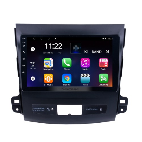9 inch Touch Screen 2006-2014 MITSUBISHI Outlander Android 10.0 Radio Bluetooth GPS Navigation system with WIFI support OBD2 DVR Backup camera