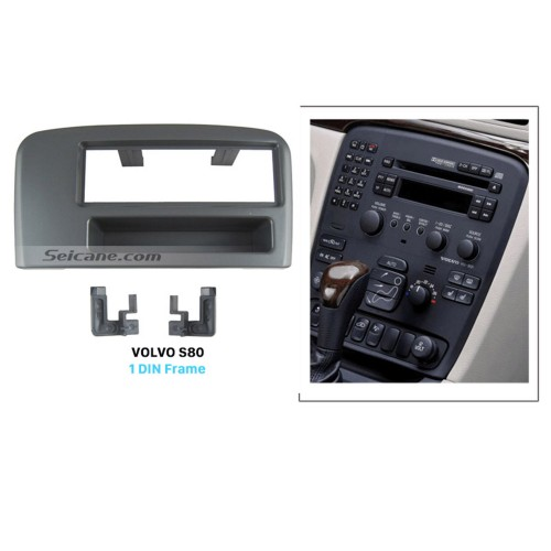Fabulous 1Din Car Radio Fascia for Volvo S80 Dashboard CD Fitting Adaptor Stereo Frame Panel