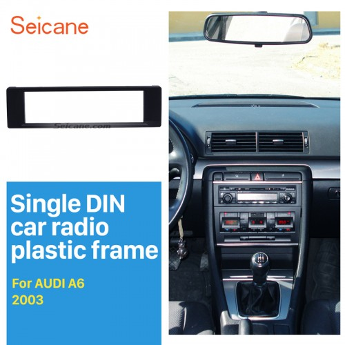 Well-crafted 1Din 2003 Audi A6 Car Radio Fascia Autostereo Panel kit Stereo Player Trim Installation frame