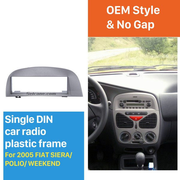 Elegant 1Din Car Radio Fascia for 2005 FIAT SIERA POLIO WEEKEND Frame Panel Audio Player Stereo Install