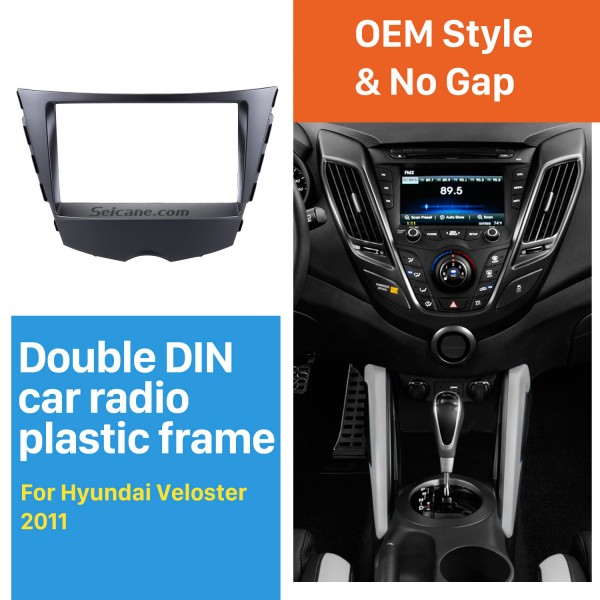 Popular Double Din 2011 Hyundai Veloster Car Radio Fascia Auto Stereo Adapter CD Trim DVD panel frame