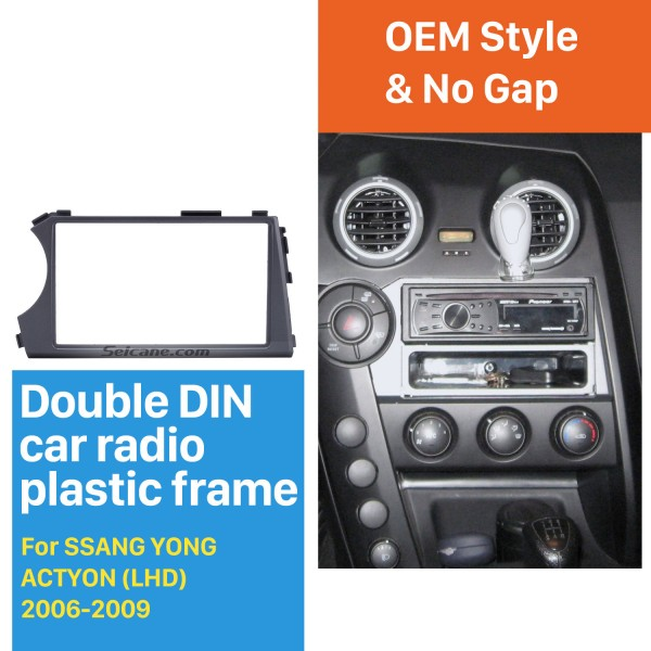 Special LHD Double Din Car Radio Fascia for 2006 2007 2008 2009 SSANG YONG ACTYON CD Trim Panel Auto Stereo Installation DVD Frame