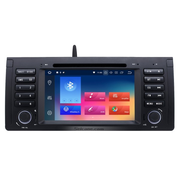 Android 9.0 1024*600 Touchscreen GPS Radio 1996-2003 BMW 5 Series E39 520i 523i 525i M5 DVD Stereo with WiFi Bluetooth Mirror Link OBD2