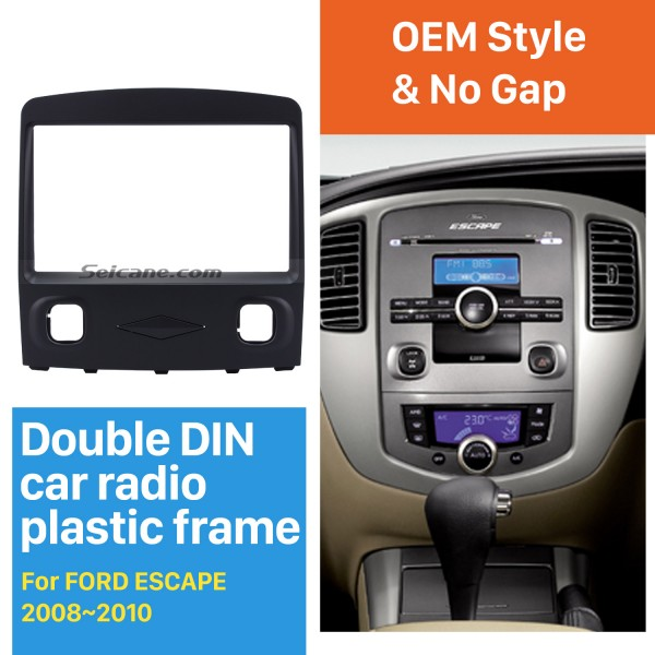 Hottest Double Din Car Radio Fascia for 2008 2009 2010 Ford Escape Stereo Interface CD Trim Panel Plate Frame