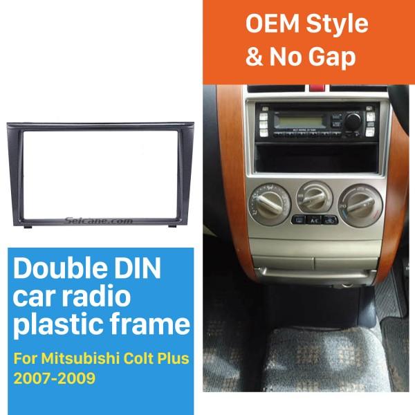 Good Quality 2Din 2007 2008 2009 Mitsubishi Colt Plus Car Radio Fascia Stereo Frame Interface Panel Trim Installation Kit