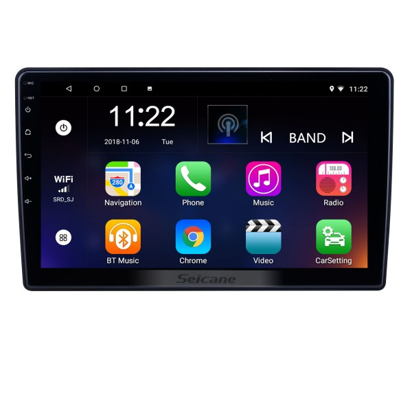10.1 inch Android 8.1 GPS Navigation Radio for 2007-2012 Chevy Chevrolet/Buick/GMC/Hummer/Pontiac/Saturn/Suzuki With HD Touchscreen Bluetooth support Carplay TPMS