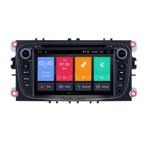 Android 10.0 1024*600 2008 2009 2010 FORD S-max Radio GPS Navigation DVD Player OBD2 WiFi Bluetooth Mirror Link Backup Camera 1080P Video Steering Wheel Control MP3 AUX USB SD
