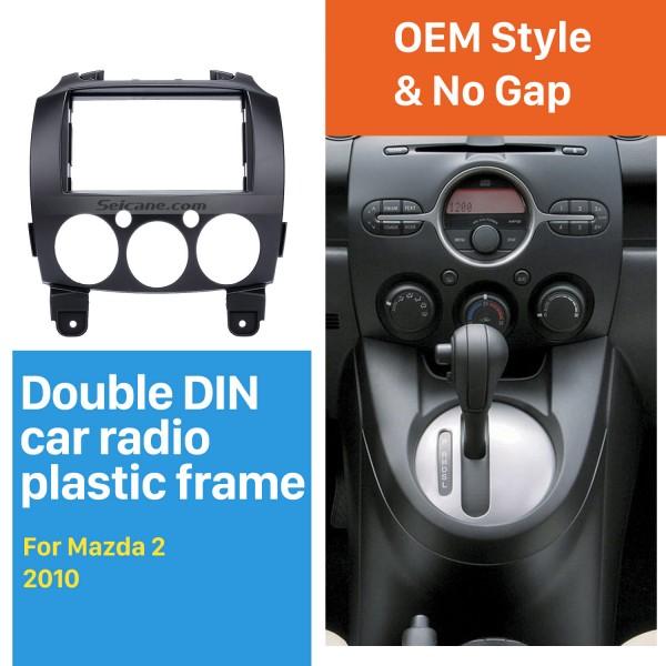 2DIN 2010 Mazda 2 Car Radio Fascia Dash DVD Player Auto Mounted Installation Frame Trim Panel Dashboard Face Plate Kit