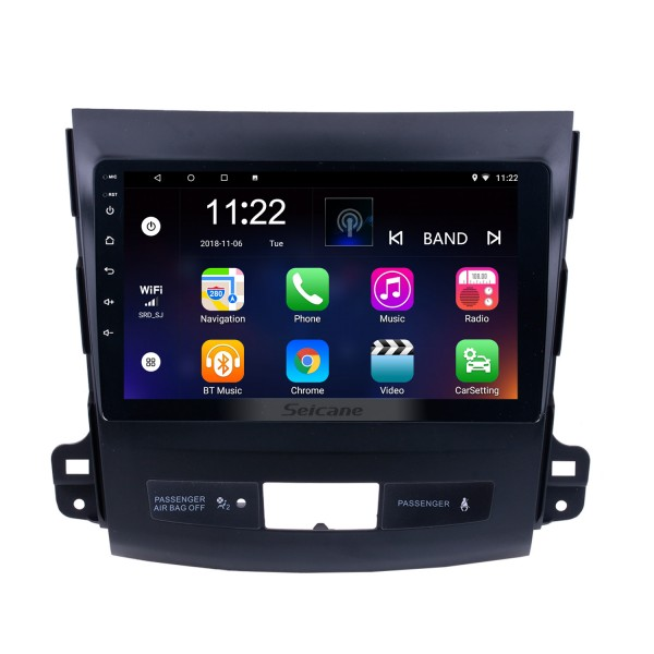 2006-2014 MITSUBISHI Outlander 9 inch Touch Screen Android 8.1 Radio Bluetooth GPS Navigation system with WIFI support OBD2 DVR Backup camera TV USB Mirror link